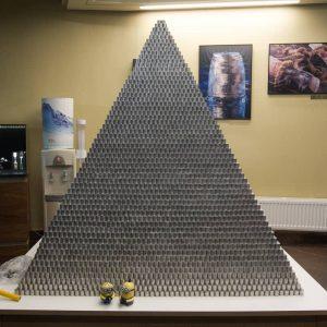 Lietuvių Gineso (Guinness) rekordai. Monetų piramidė